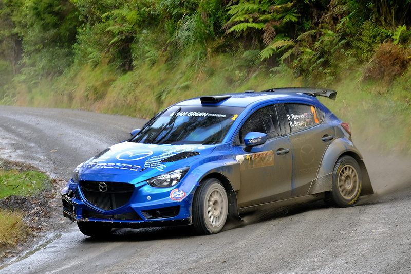Reeves triumphs at chaotic Coromandel rally