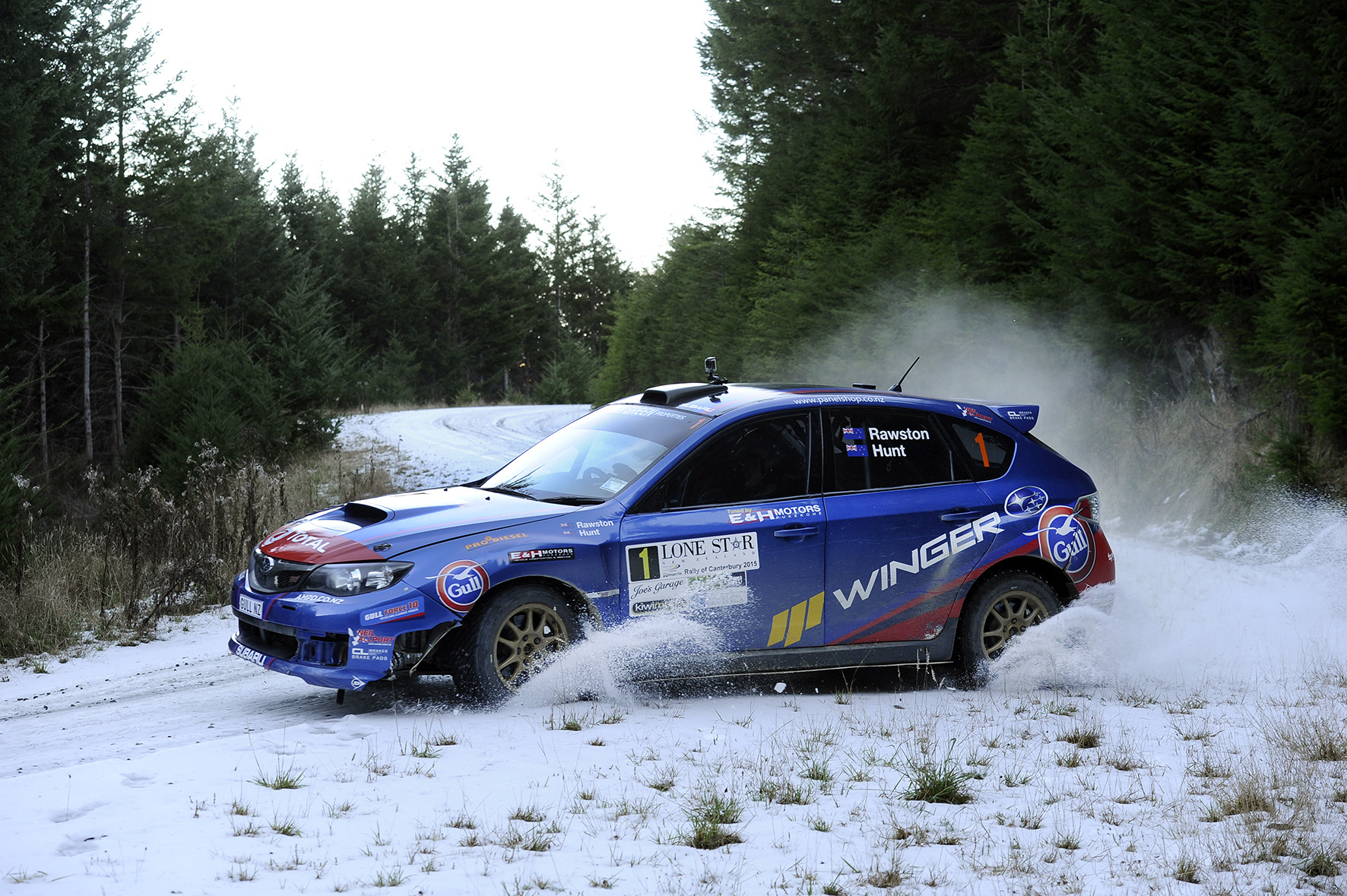 Hunt extends championship lead at dramatic Rally Canterbury