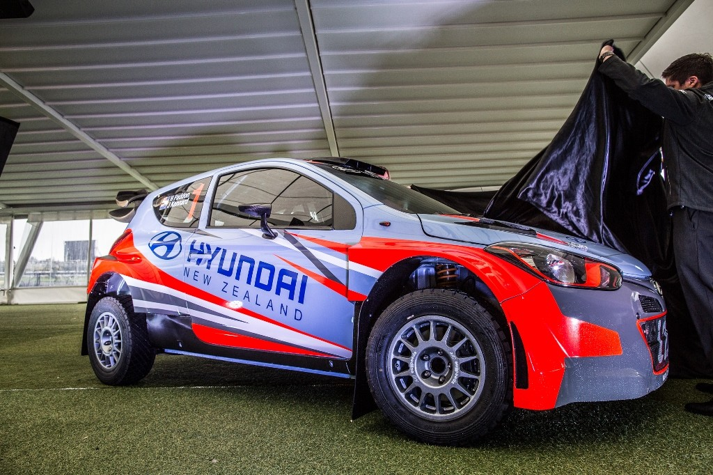 Hayden Paddon and John Kennard compete in new Hyundai i20 rally car in NZ events_LR