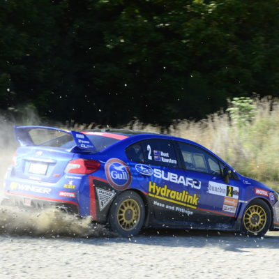 Subaru's Ben Hunt & co-driver Tony Rawstorn