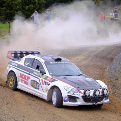 Marcus van Klink in action during Rally Whangarei. Photo / Geoff Ridder