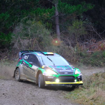 Nathan Quinn finished an impressive second at Lone Star Rally Canterbury. Photo / Geoff Ridder
