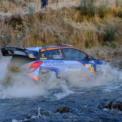 Hayden Paddon stormed to his third win of the season. Photo / Geoff Ridder
