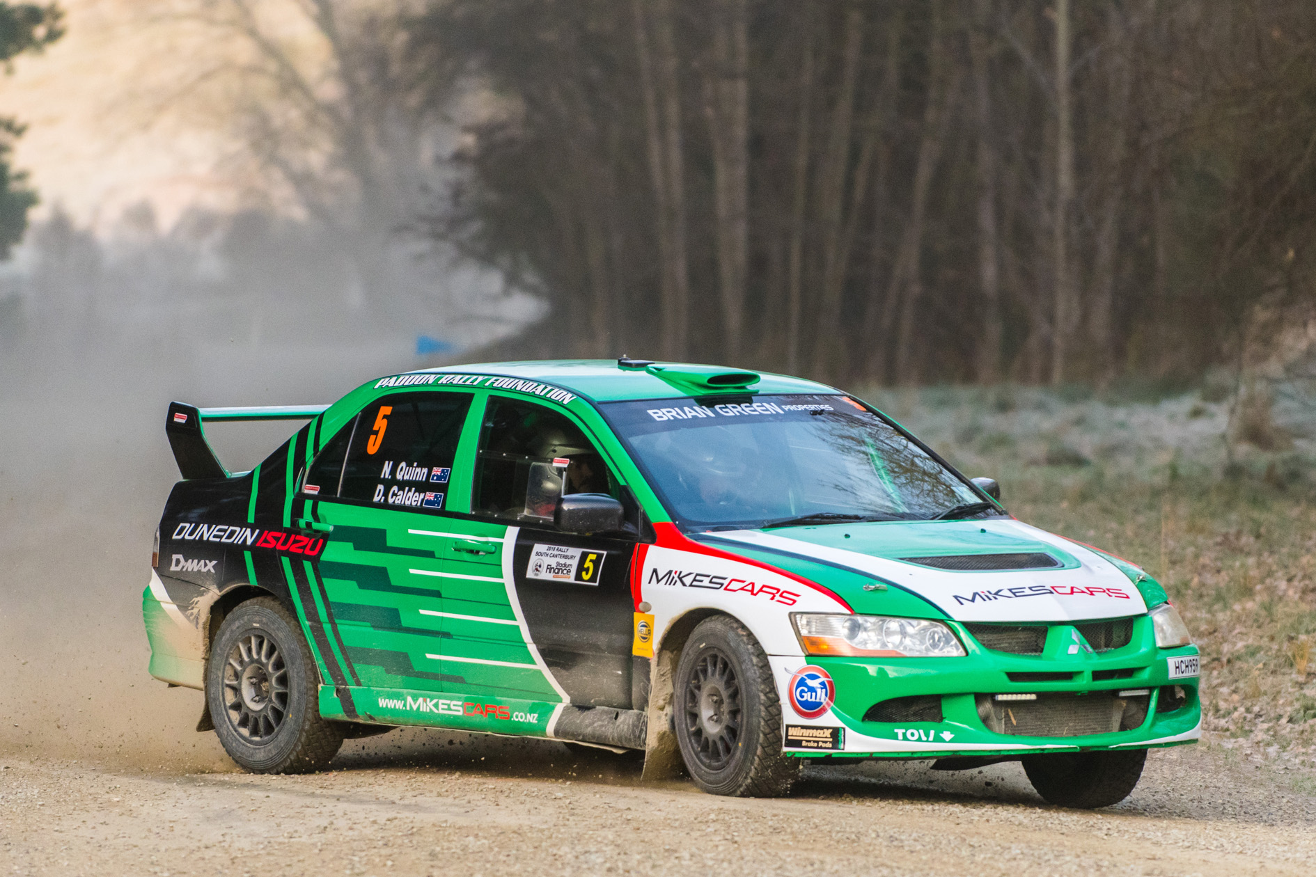 Three rallies, three cars and three top finishes for Quinn