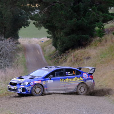 Ben Hunt in action during Rally South Canterbury. Photo / Geoff Ridder
