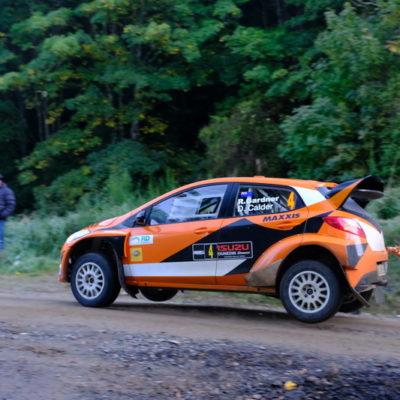 Rhys Gardner in action during Rally Otago. Photo / Geoff Ridder