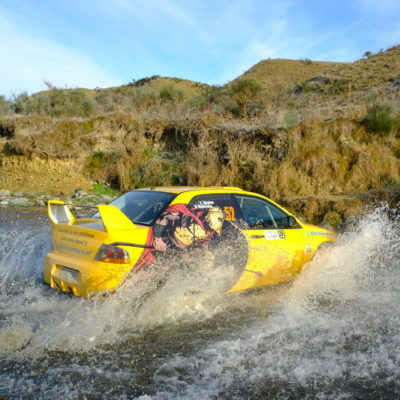 Leon Styles competing at Stadium Finance Rally South Canterbury. Photo / Geoff Ridder