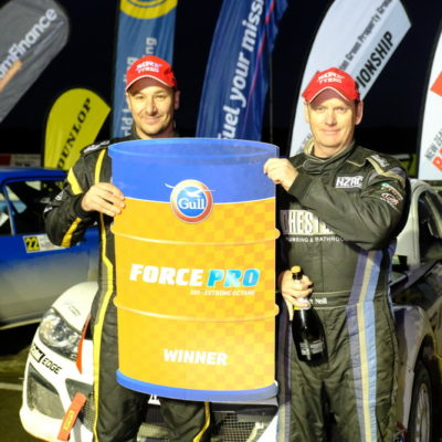 Marcus van Klink and Dave Neill won the Gull prize at Rally South Canterbury. Photo / Geoff Ridder