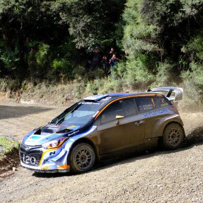 Hayden Paddon won Hyundai NZ Goldrush Rally of Coromandel. Photo / Geoff Ridder