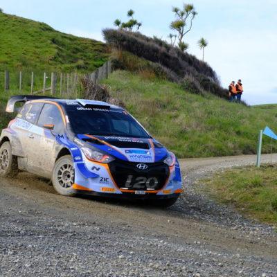 Hayden Paddon won Raglan Rally of the Coast. Photo / Geoff Ridder