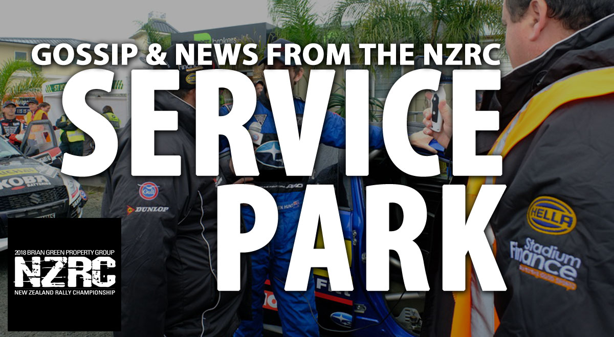 From the Service Park… Rally Otago