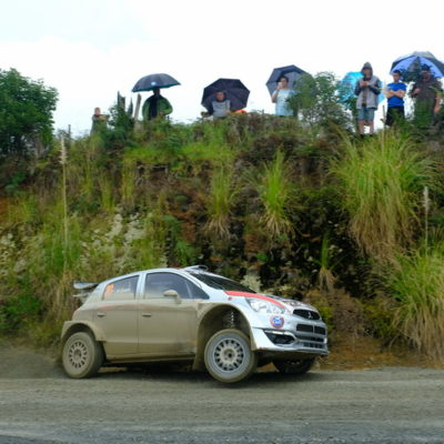 Brian Green competes at the 2018 International Rally of Whangarei. Photo / Geoff Ridder