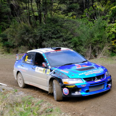 Bryn Smith in action at Rally Coromandel. Photo / Geoff Ridder