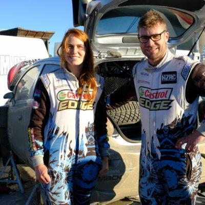 Matt and Nicole Summerfield at Rally Otago. Photo / Geoff Ridder