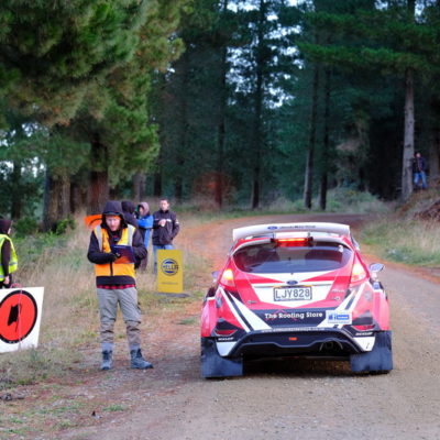 Phil Campbell waits to start in Ashley Forest. Photo / Geoff Ridder