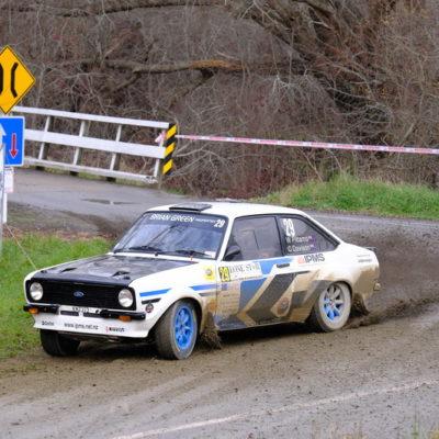 Wayne Pittams in action at Rally Canterbury. Photo / Geoff Ridder